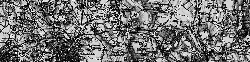 Old map of Aldridge in 1899