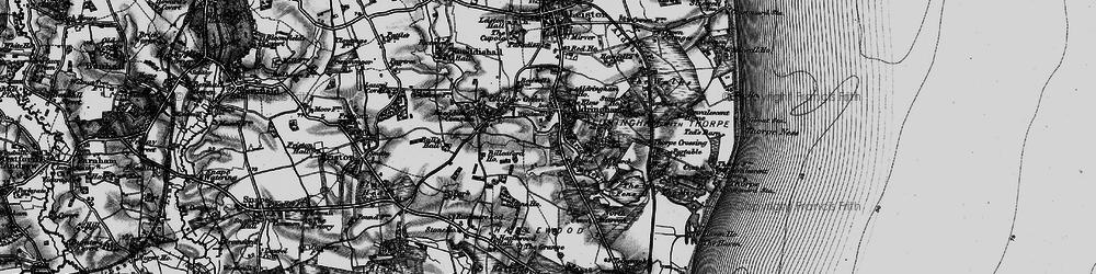 Old map of Aldringham in 1898