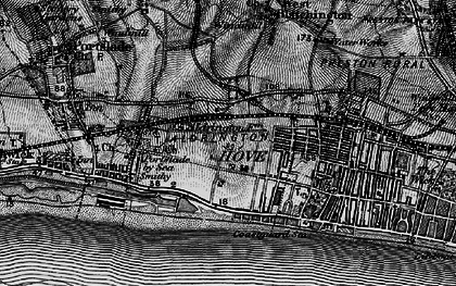 Old map of Aldrington in 1895