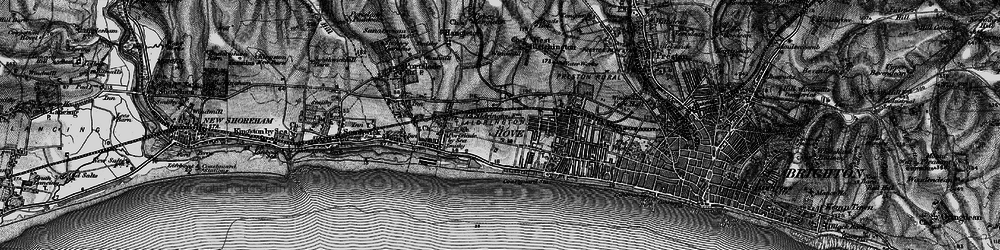 Old map of Aldrington in 1895