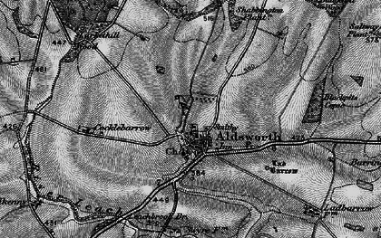 Old map of Aldsworth in 1896