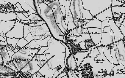 Old map of Aldwark Br Toll in 1898