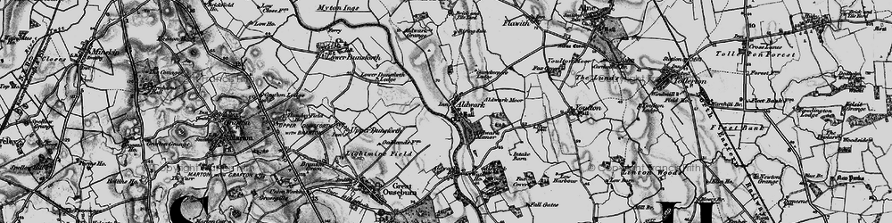 Old map of Aldwark Wood in 1898