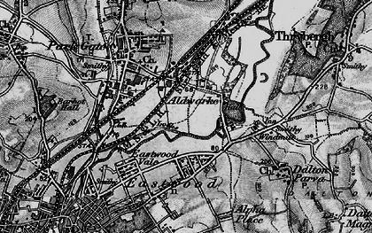 Old map of Aldwarke in 1896