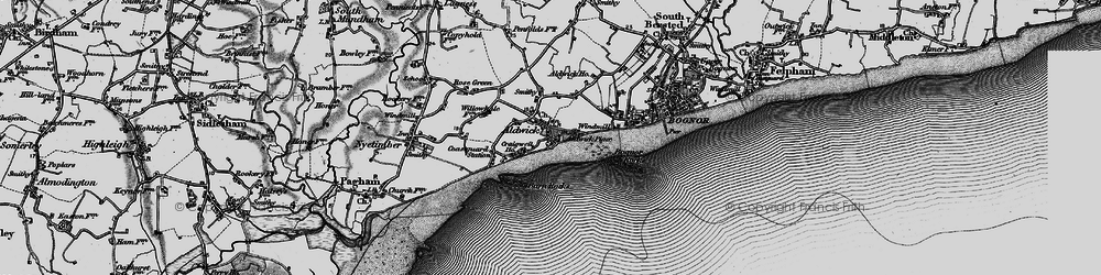 Old map of Aldwick in 1895