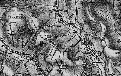 Old map of Ale Oak in 1899