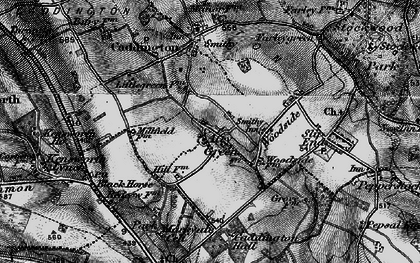 Old map of Aley Green in 1896