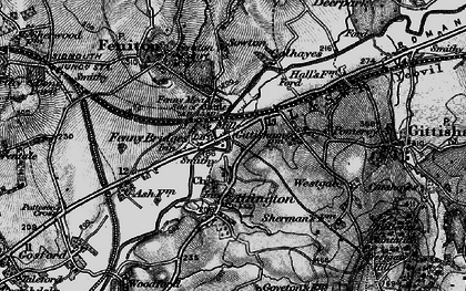 Old map of Alfington in 1898