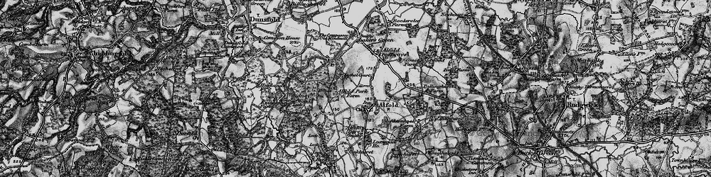 Old map of Alfold in 1896