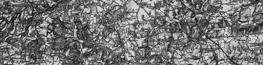 Old map of Alfold Bars in 1895