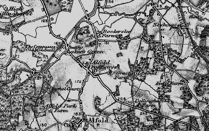 Old map of Alfold Crossways in 1896