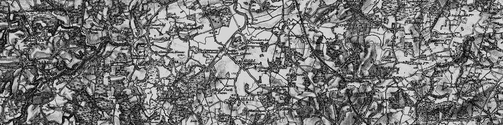Old map of Alfold Crossways in 1896