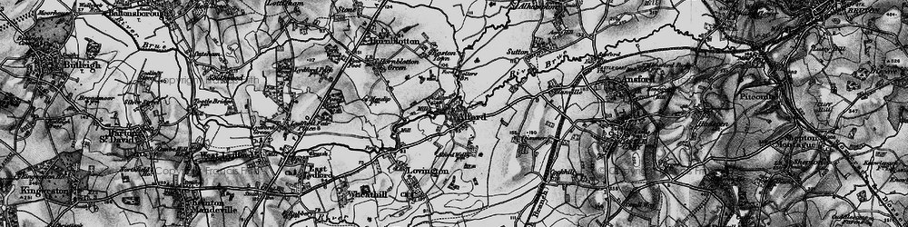 Old map of Alford in 1898