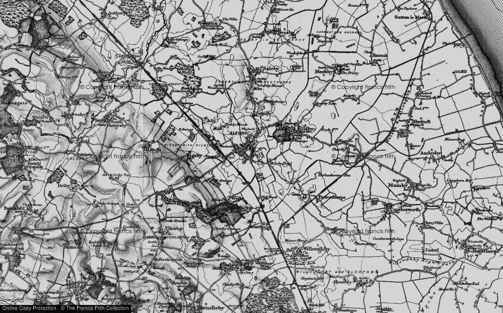 Old Map of Alford, 1899 in 1899