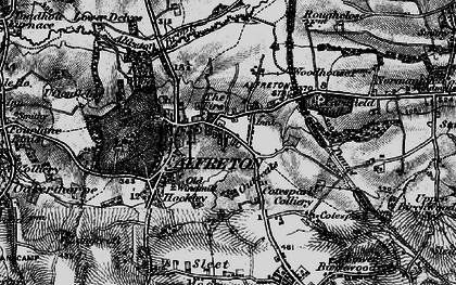 Old map of Alfreton in 1896