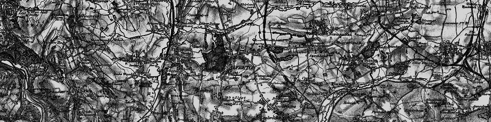 Old map of Alfreton Brook in 1896