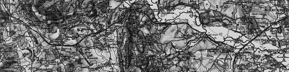 Old map of Alfrick in 1898