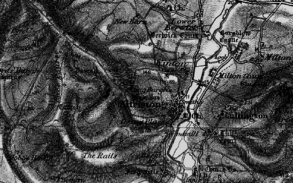 Old map of Alfriston in 1895