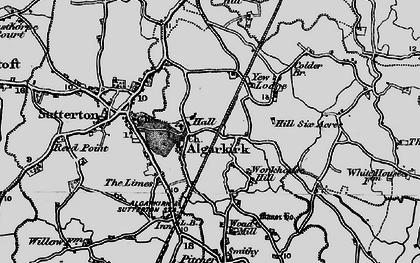 Old map of Algarkirk in 1898