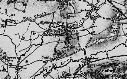 Old map of Alhampton in 1898