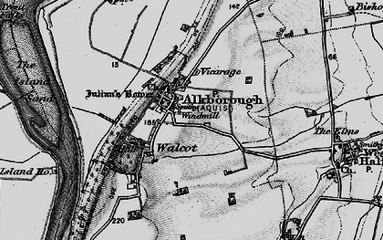 Old map of Alkborough in 1895