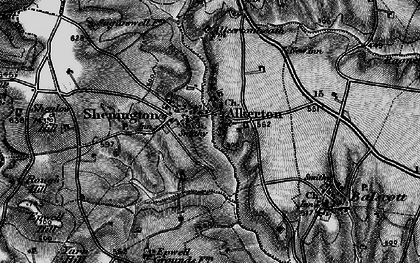 Old map of Alkerton in 1896