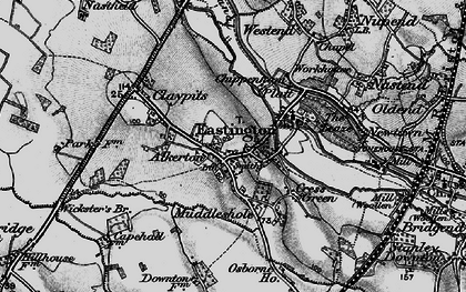 Old map of Alkerton in 1897