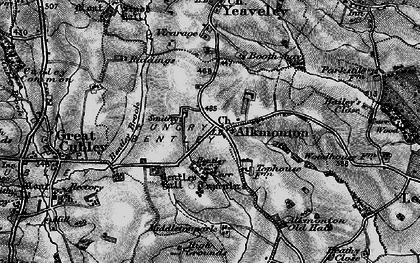 Old map of Alkmonton in 1897