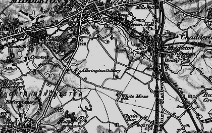 Old map of Alkrington Garden Village in 1896