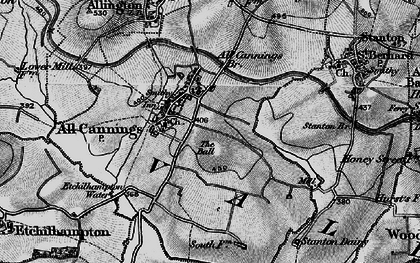 Old map of All Cannings Br in 1898