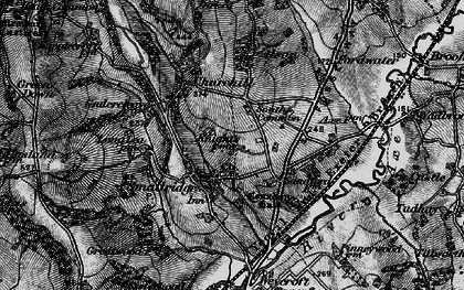 Old map of All Saints in 1898
