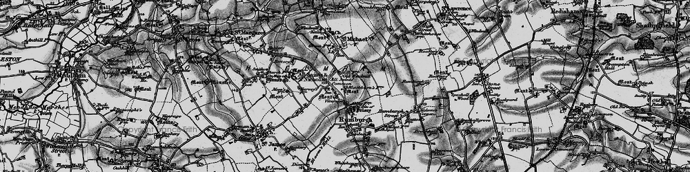 Old map of All Saints South Elmham in 1898