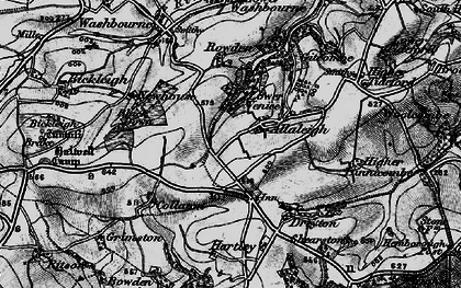 Old map of Allaleigh in 1897