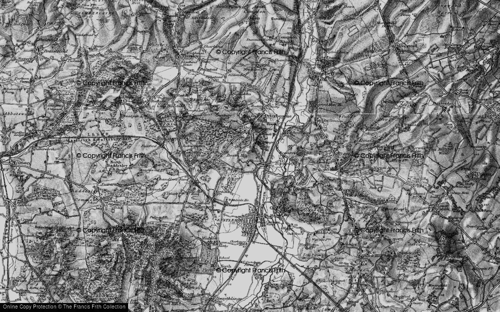 Old Map of Allbrook, 1895 in 1895