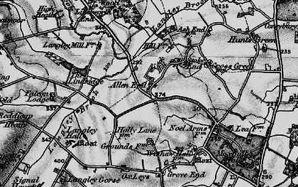 Old map of Allen End in 1899