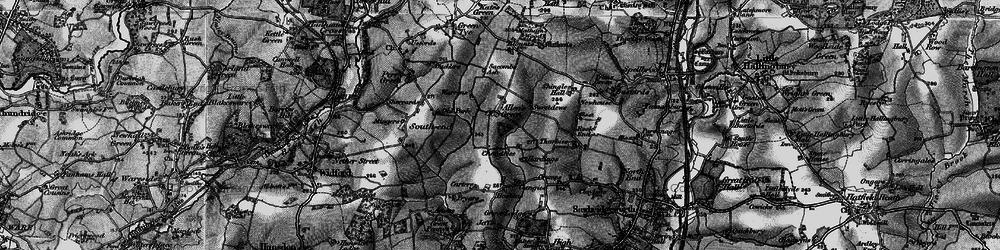 Old map of Allen's Green in 1896