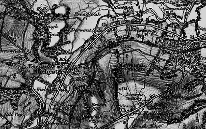 Old map of Allendale Cottages in 1898