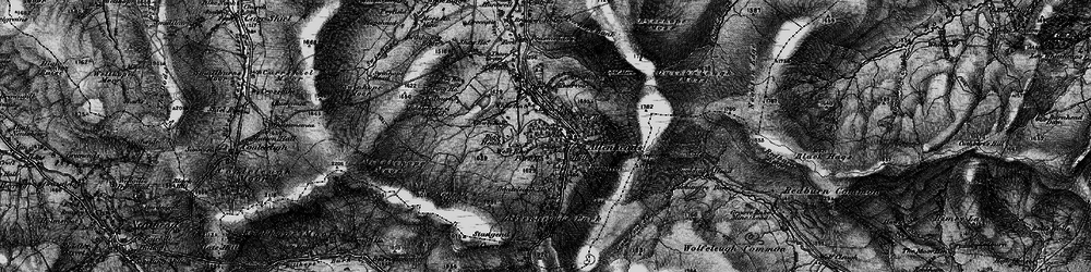 Old map of Allenheads in 1897