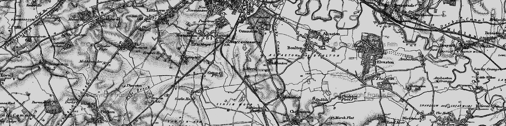 Old map of Allenton in 1895