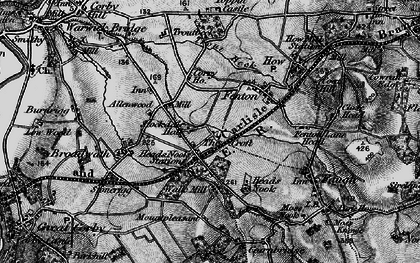 Old map of Allenwood in 1897