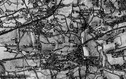 Old map of Whimple Wood in 1898