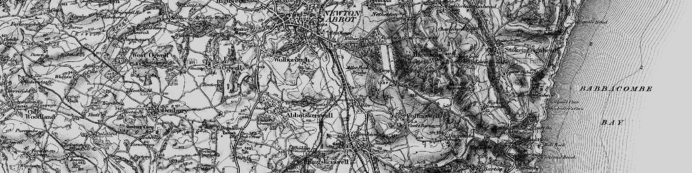 Old map of Aller Park in 1898