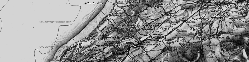 Old map of Allerby in 1897