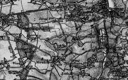 Old map of Allercombe in 1898