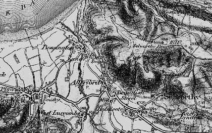 Old map of Western Brockholes in 1898