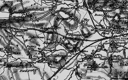 Old map of Allerford in 1898