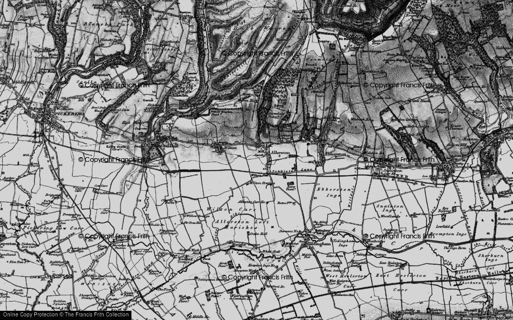 Old Map of Allerston, 1898 in 1898