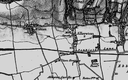 Old map of Allerston Loft Marishes in 1898