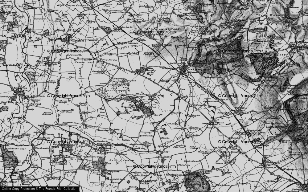 Old Map of Allerthorpe, 1898 in 1898