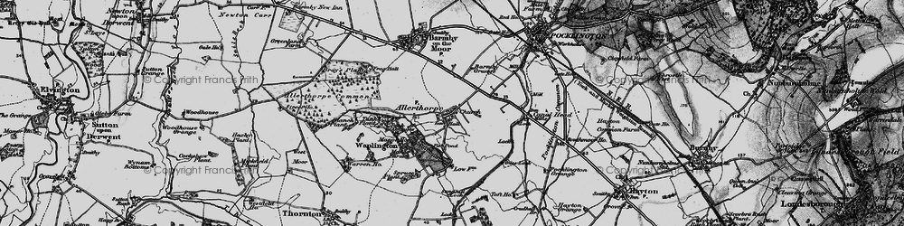 Old map of Allerthorpe in 1898